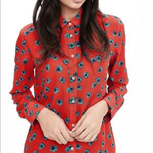 Banana republic•Bright floral Dillon print shirt